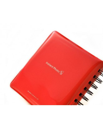 Jelly Mini Photo Album for Fujifilm Instax Mini 210 Films - Red