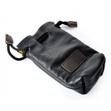 Small Genuine Leather Drawstring Sack Bag for Mirrorless Camera