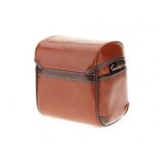 Vintage Style Leather Shoulder Bag for DSLR Camera - Brown