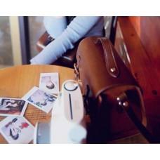 Vintage PU Leather Shoulder Bag for Mirrorless Cameras - Brown