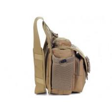 Water-reisitant Nylon DSLR Cross Body Camera Bag - Khaki