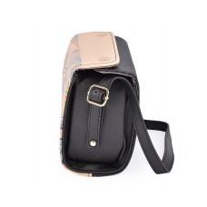 Retro PU Leather Camera Bag for Fujifilm Instax Mini Cameras - Black