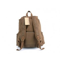 Retro Canvas DSLR Camera Rucksack with Removable Partition - Deep Brown