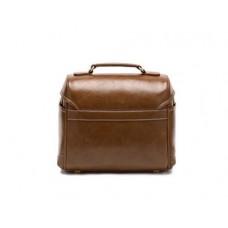 Retro DSLR Leather Shoulder Bag with Detatchable Strap - Brown