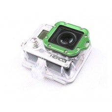 GoPro Aluminum LANYARD RING Mount for Hero 3 Black Edition - Green
