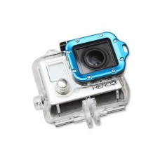GoPro Aluminum LANYARD RING Mount for Hero 3 Black Edition - Blue