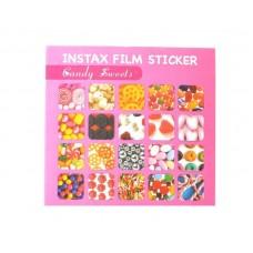 80 Sheets Fujifilm Instax Mini Films Decor Sticker Borders - Candy