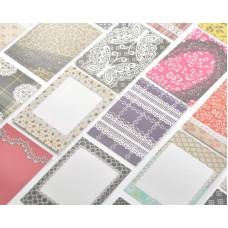80 Sheets Fujifilm Instax Mini Films Decor Sticker Borders - Lace