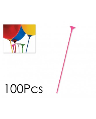 100 Pcs Plastic Balloon Sticks and Cups for Party Favours