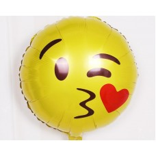 12 Pcs 19 Inches Creative Emoji Party Aluminum Foil Balloons
