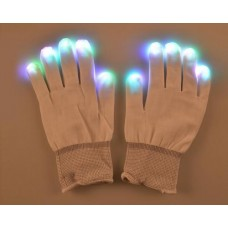 1 Pair Luminous Party LED Finger Lighting Gloves