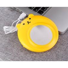 Cute Bear Series Desktop USB Cup Warmer - Yellow