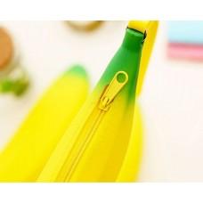 Banana shaped Pencil Case Silicone Coin Purse