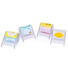 4 Packs Cartoon Refillable Roll Sticky Notes with Clear Dispensers