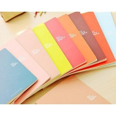7 x 9 Inches 46 Pages Writing Composition Notebook Memo Book - Red