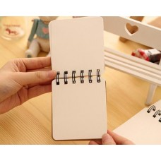3 Pcs Spiral Blank Page Composition Memo Notebook