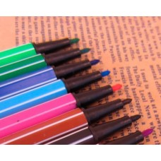 12 Pcs DIY Ink Card Making Colors Fine-tip Pens