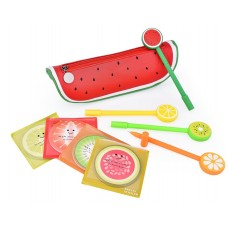 Fruit Shaped Stationery Set with Pencil Case Pens and Sticky Notes - A