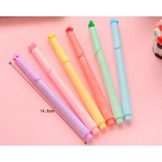 Lovely Creative Star Seal Watercolor Highlighter Marker Pen-Yellow