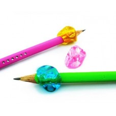 Ergonomic Writing Aid Pencil Grip for Right Hand Users - Pink