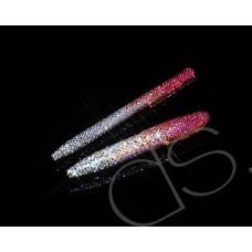 Graphite Swarovski Crystallized Long Ball Pen - Pink