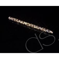 Leopardo Swarovski Crystallized Long Ball Pen - Gold