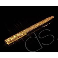 Gold Brick Swarovski Crystallized Long Ball Pen