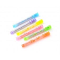 6 Pcs Creative Star Point Seal Watercolor Multi Highlighter Marker Pen