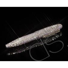 Classic Swarovski Crystallized Mid-Size Ball Pen - Silver