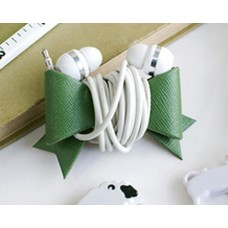 Bow Headphone Cable Cord Organizer - Green