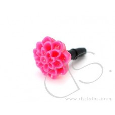 Headphone Jack Plug - Flower Pink