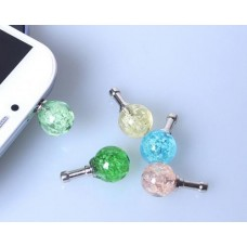 Luminous Ball Headphone Jack Plug - Blue