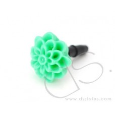 Headphone Jack Plug - Flower Green