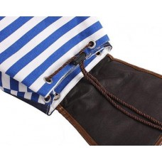 Sailor Stripes Drawstring Rucksack - Blue