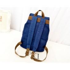 Korean Style Drawstring Rucksack - Blue