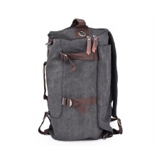Casual Style Large Capacity Canvas Travel Bag - Black