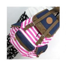 Sailor Stripes Drawstring Rucksack - Pink