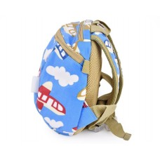 9' Safety Harness Toddler Kids Backpack with Rein Strap - Plane