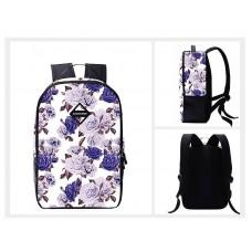 Flower Print Casual Travel Backpack - Purple