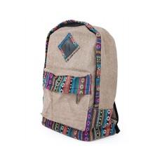 Canvas Bohemian Tribal Rucksack Backpack - Khaki