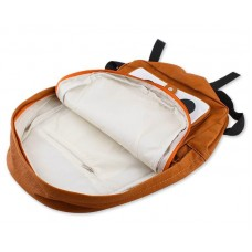 Fox Cartoon PU Leather Casual Backpack - Coffee