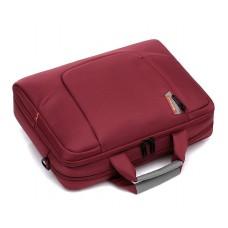 """15.6"""" Nylon Shoulder Bag with Detachable Shoulder Strap - Red"""