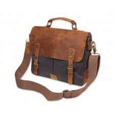 Vintage Canvas Satchel Messenger Bag for Men - Dark Gray