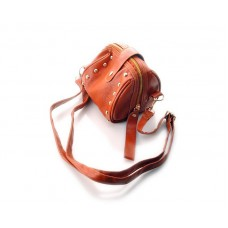 Chic Mini Shoulder Bag with Detatchable Strap - Brown