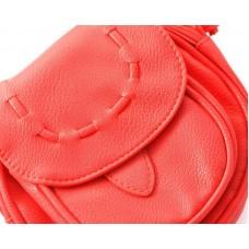 Lovely PU Leather Shoulder Bag - Red