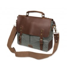 Vintage Canvas Satchel Messenger Bag for Men - Green