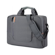 "15.6"" Nylon Shoulder Bag with Detachable Shoulder Strap - Gray"