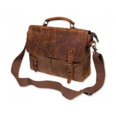 Vintage Canvas Satchel Messenger Bag for Men - Coffee