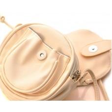Lovely PU Leather Shoulder Bag - Beige