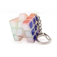 Mini 3x3x3 Luminous Magic Speed Cube Keychain - Transparent